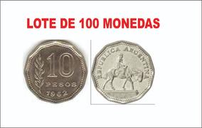 Monedas Antiguas Argentinas El Resero Lote X 100 Unidades