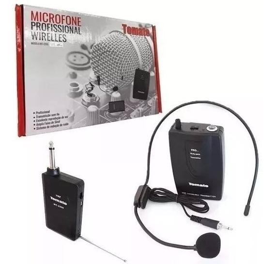 Microfone Profissional Wirelles P10 Sem Fio Headset Cabeça