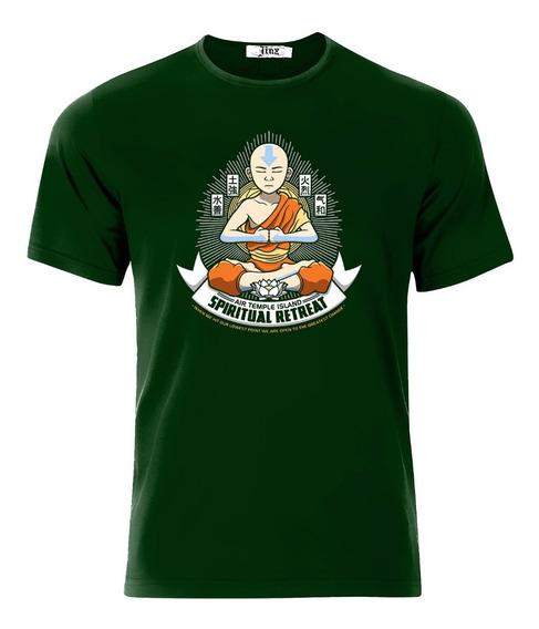Playeras Aang Estilo Budista Buda Meditando La Leyenda De Aang Avatar Caricatura