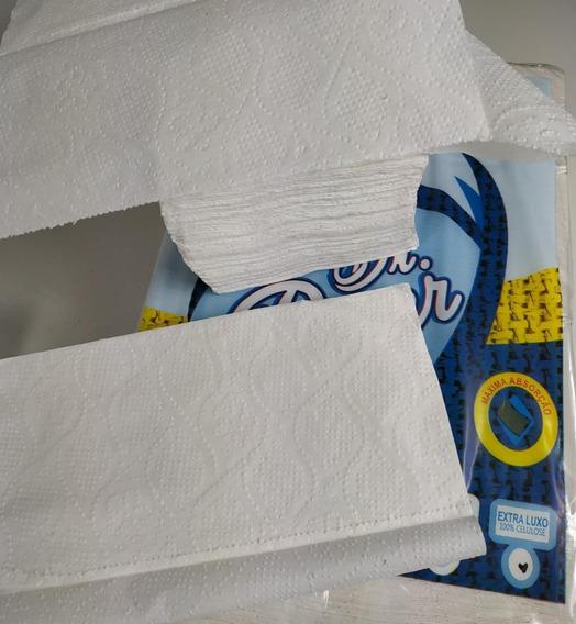 Papel Toalha Branco Super Luxo 20x20 C/ 1.000 Folhas 2 Dobra
