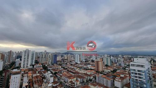 Imagem 1 de 30 de Cobertura Com 4 Dormitórios, 465 M² - Venda Por R$ 3.990.000,00 Ou Aluguel Por R$ 24.400,00/mês - Embaré - Santos/sp - Co0235