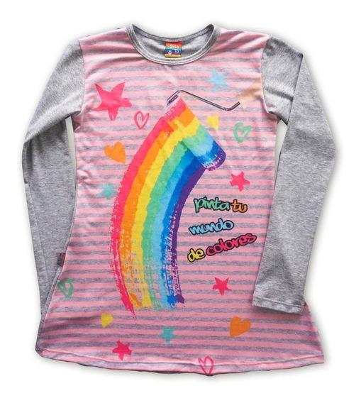 Vestido Diseño Nena Dilotu Arcoiris 2 Al 14