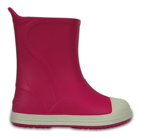 Bota De Lluvia Infantil Crocs Bump It Boot Rosa