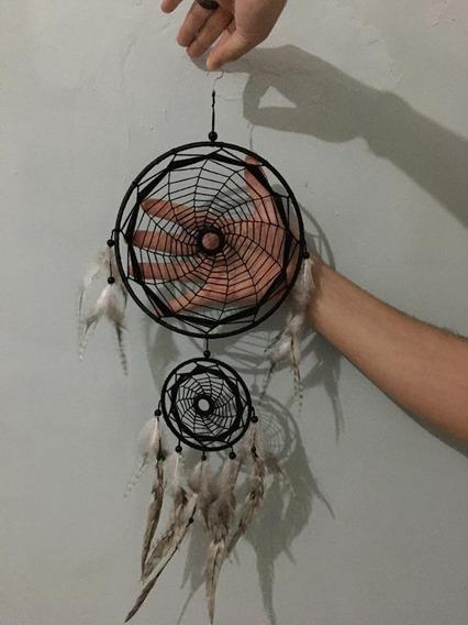 Filtro Dos Sonhos Croche Mandala Colorida + Chaveiro Kit