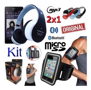 Fone Ouvido Headset Sem Fio Bluetooth Rádio Fm + Braçadeira