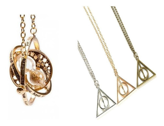 Giratiempo Harry Potter + Collar Reliquias De La Muerte