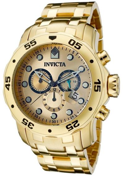 Relógios Invicta Pro Diver 0074 Ouro 18k