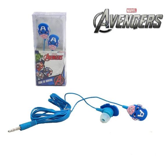 Fone De Ouvido Infantil Capitão América Avengers Marvel Ving