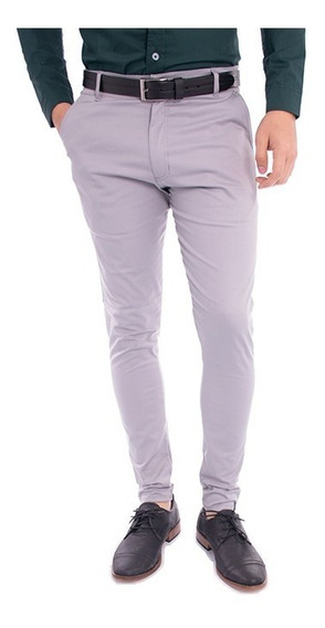 Combo/pack - Pantalon Vestir Hombre Formal + Cinturon Cuero - Chupin