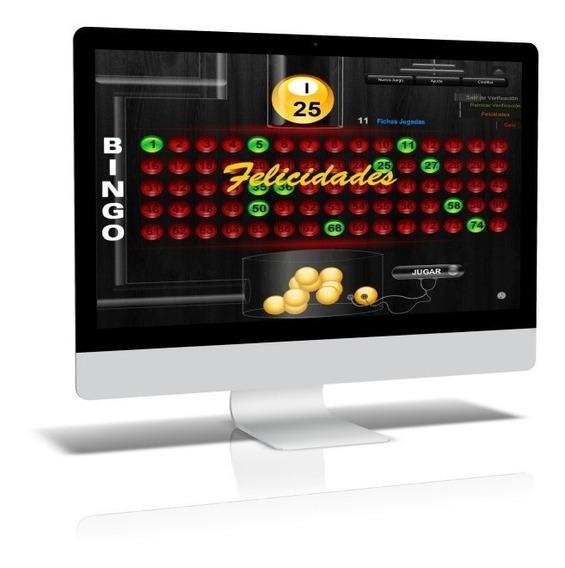 Juego Bingo Electrónico 75 Bolas + Generador Verific Cartón