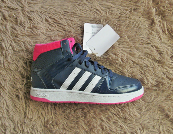 Tênis adidas Vs Hoopster Mid Cano Alto Original Style Hiphop