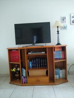Mesa Organizadora De Audio Y Tv Con Estantes Para Biblioteca