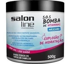 Kit Sos Bomba 2 Condicionador E 1 Máscara Salon Line