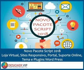 Novo Pacote Script Php 2018: Loja, Sites Responsivo, Portal