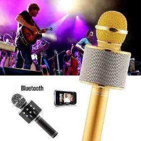 Microfone Karaokê Alto Falante Bluetooth Sem Fio Portátil