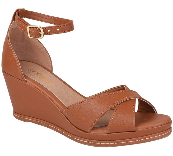 Sandalia Salto 4cm Espadrilhe Promoçao