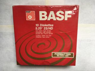 Basf 5.25 X 10 Diskettes Nuevo