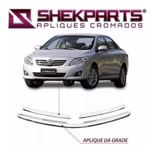 Kit Friso Cromado Grade Frontal Corolla 2008 2009 2010 2011