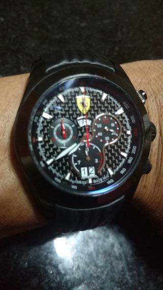 Relógio Ferrari Black Vidro De Safira Original