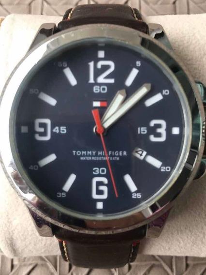 Relógio Marca Tommy Hilfiger Original Pulseira Couro Marrom