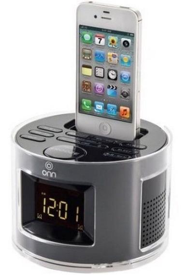 Reloj Despertador Radio Cargador iPhone iPod Pantalla Grande