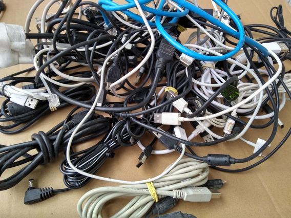 Lote 100 Cabo Usb Lan Hdmi Audio Para Celular Pc Em Geral