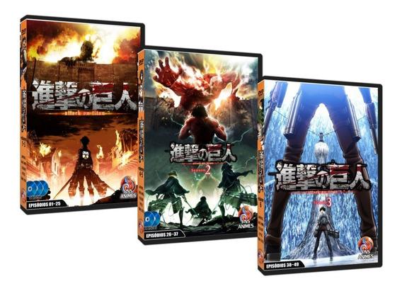 Dvd Shingeki No Kyojin Attack On Titan Completo