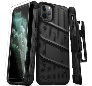 Funda Uso Rudo Zizo Bolt iPhone 11 Pro Max + Clip + Glass
