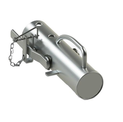 Munheca Tubular Para Reboque Engate Carretinha 50mm