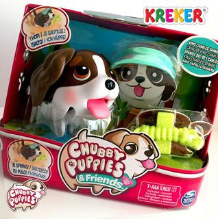 Perrito Gordito Camina Chubby Puppies C/ Accesorios Kreker