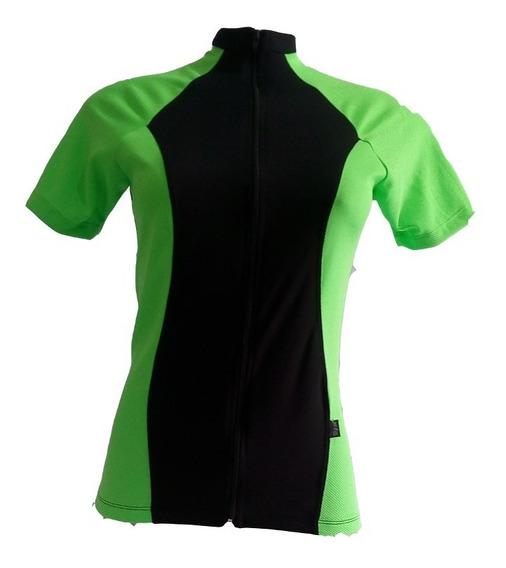 Camiseta De Ciclista Feminina Manga Curta Em Dry Fit