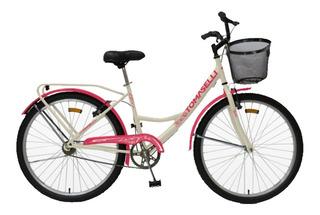 Bicicleta Tomaselli Lady R26 Canasto, P.equipaje Mandy Hogar