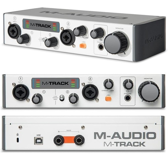 Interface Audio M-audio M-track Ii Usb Com Phantom Power