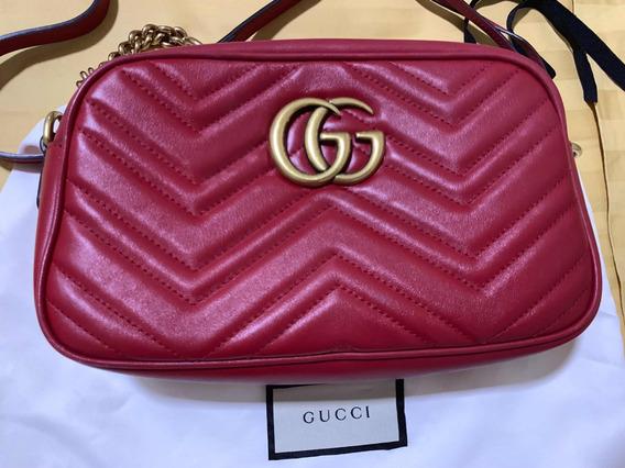 Bolsa Gucci Marmont Gg Original Vermelha Maravilhosa
