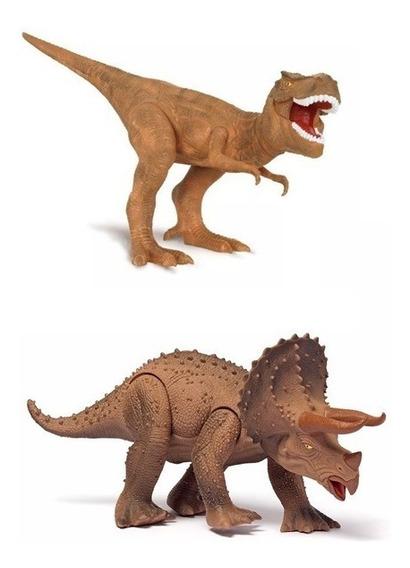 Tiranossauro Rex + Triceratops Dinossauro World Cotiplas