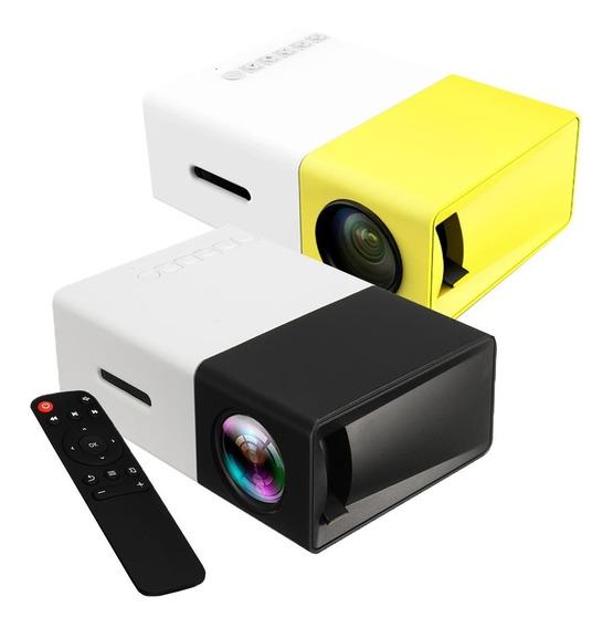 Mini Projetor Portátil Led 1080p 400 600 Lúmens Yg300 Lcd
