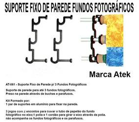 Suporte Fixo De Parede Para Fundos Fotográficos