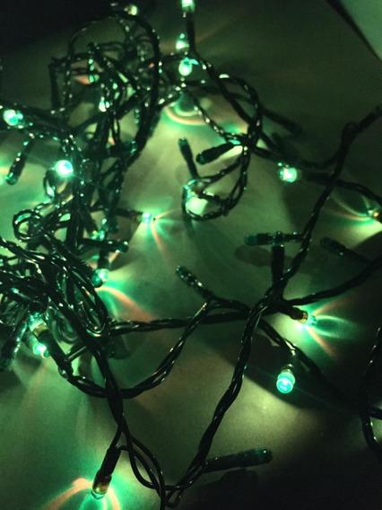 100 Luces Arroz 4 Metros Navidad Arbolito Color Verde