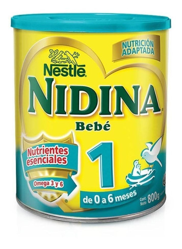 Leche de fórmula en polvo Nestlé Nidina 1 en lata  800g
