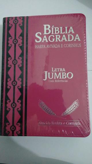 Bíblia Sagrada Letra Jumbo/ Harpa Corinhos Avivados E Ref.