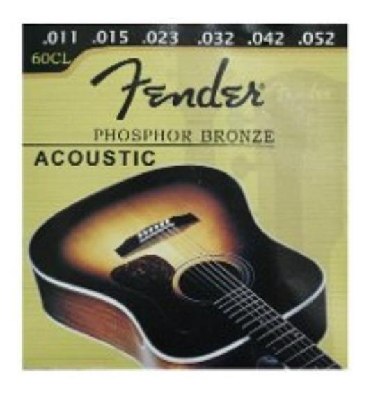 Set De Cuerdas Guitarra Electro Acustica Fender 60xl