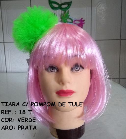 Tiara Pompom De Tule Alrak Carnaval 2020 Folia Tendência