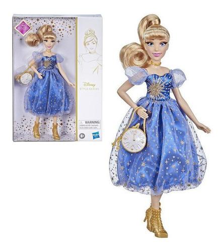 Imagem 1 de 6 de Boneca Cinderela 30cm E Acessório Disney Style Series Hasbro