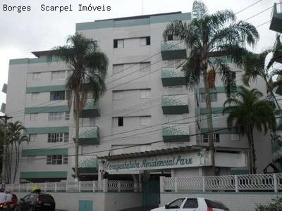 Excelente Apartamento No Centro Da Cidade E A Uma Quadra Do Mar Para Locação Definitiva - Condomínio Residencial Park * 3 Dormitórios (sendo 1 Com Varanda E Todos Com Armários Pla - Ap00174 - 2241141