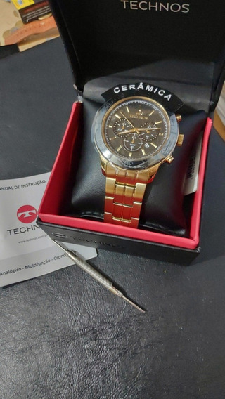Relógio Technos Cronógrafo Ceramic Safira Novo Orient