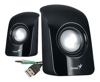 Parlantes Genius Sp-u115 3.5mm Usb Pequeños Para Pc Laptop