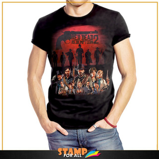 Camiseta Red Dead Redemption 2 Personagens Stamp For All