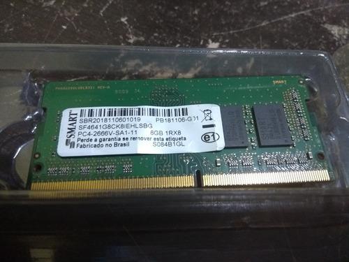 Imagem 1 de 1 de Memoria Smart 8 Gb Ddr4 Pc4 2666v Sf4641g8ck8iehlsbg De Note