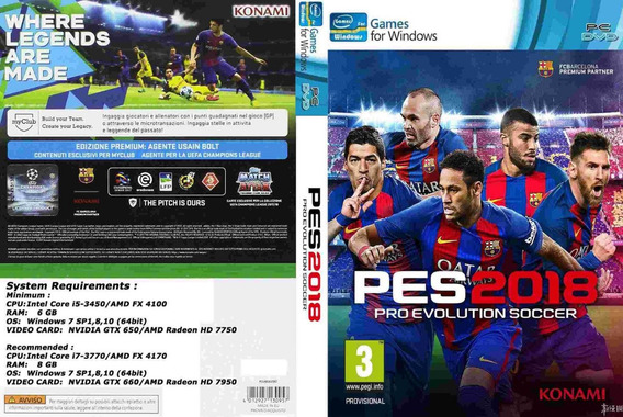Pro Evolution Soccer 2018 Original Cd-key Pc Steam Pes 18