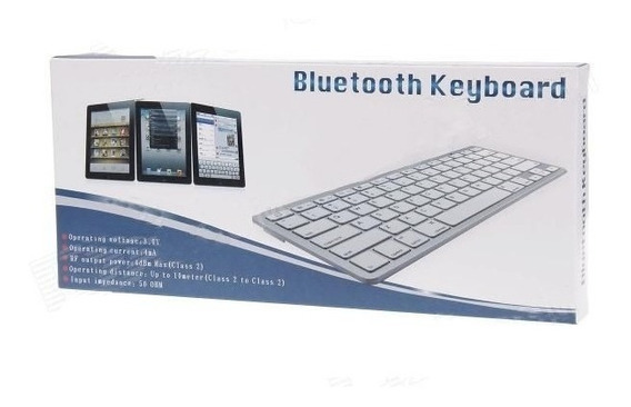 Teclado Sem Fio Bluetooth Tablet E Celular Android Ios Windo